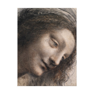 Leonardo da Vinci The Head of the Virgin Canvas Print
