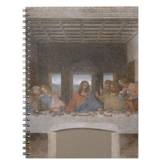 Leonardo da Vinci - The Last Supper painting Spiral Notebook