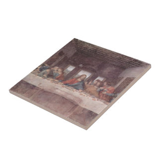 Leonardo da Vinci- The Last Supper Small Square Tile