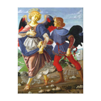 Leonardo da Vinci Tobias and the Angel Canvas Print