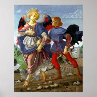 Leonardo da Vinci Tobias and the Angel Poster
