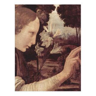 Leonardo da Vinci Verk?ndigung an Maria, Detail: V Postcard