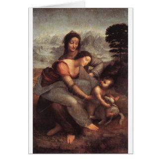 Leonardo da Vinci - Virgin and Child with St Anne Card