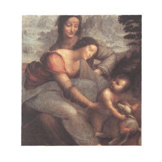 Leonardo da Vinci - Virgin and Child with St Anne Notepad
