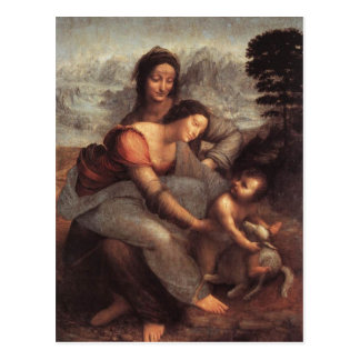 Leonardo da Vinci - Virgin and Child with St Anne Postcard
