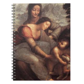 Leonardo da Vinci - Virgin and Child with St Anne Spiral Notebook