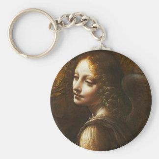 Leonardo da Vinci Virgin of the Rocks Angel Basic Round Button Key Ring