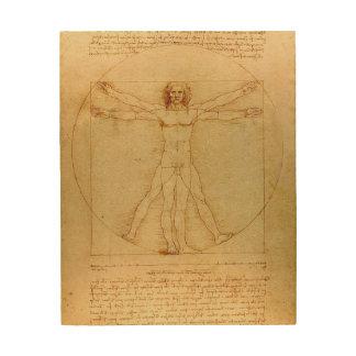 Leonardo Da Vinci Vitruvian Man Wood Print