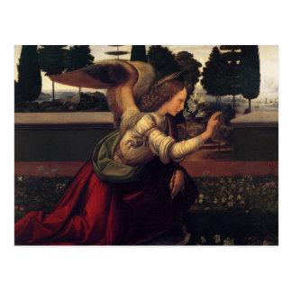 Leonardo DaVinci Annunciation - Angel Postcard
