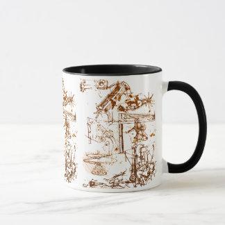 Leonardo DaVinci sketched coffee mug