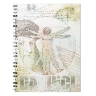 Leonardo DaVinci Vitruvian Man Collage Notebooks