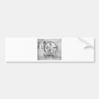 Leonardo Gears Bumper Sticker