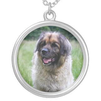 Leonberger dog necklace, gift idea round pendant necklace