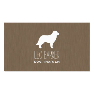Leonberger Dog Silhouette Pack Of Standard Business Cards