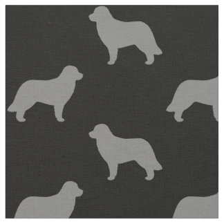 Leonberger Dog Silhouettes Pattern Fabric