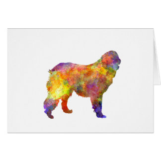 Leonberger in watercolor card