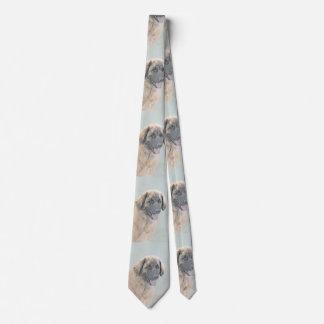 Leonberger Painting - Cute Original Dog Art Tie