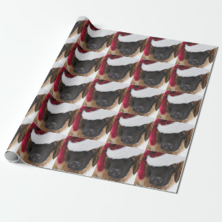 Leonberger Puppy Santa Wrapping Paper