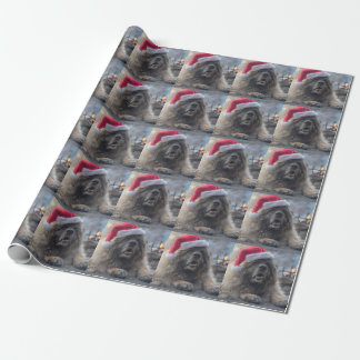 Leonberger Santa Wrapping Paper