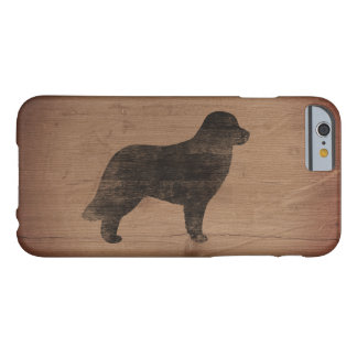 Leonberger Silhouette Rustic Barely There iPhone 6 Case