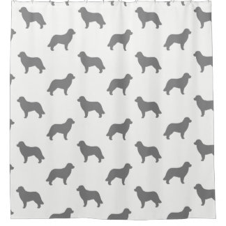 Leonberger Silhouettes Pattern Shower Curtain