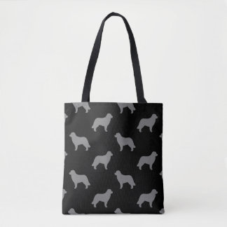 Leonberger Silhouettes Pattern Tote Bag