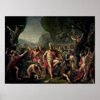 Leonidas at Thermopylae, 480 BC, 1814 Poster