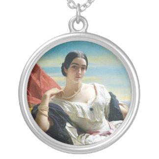 Leonilla Princess of Sayn Wittgenstein Round Pendant Necklace