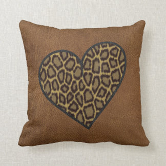 Leopard and Leather pillow