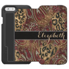 Leopard and Paisley Pattern Print to Personalise Incipio Watson™ iPhone 6 Wallet Case