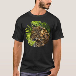 LEOPARD AND PALM LEAVES T-Shirt