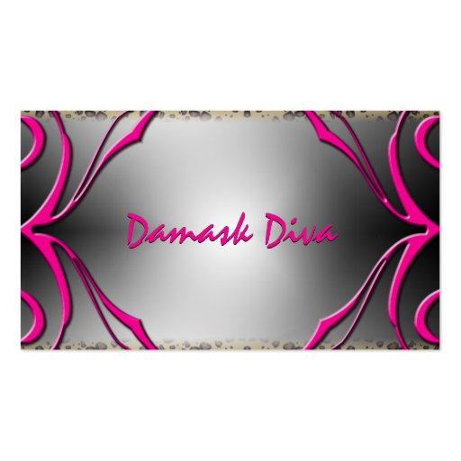 Leopard and Pink Fluers Business Card
