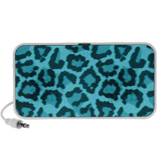 Leopard Animal Print Blue Speaker