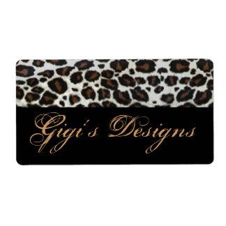 Leopard animal print handmade labels