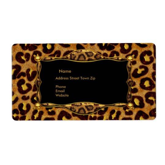 Leopard Black Gold Label Address