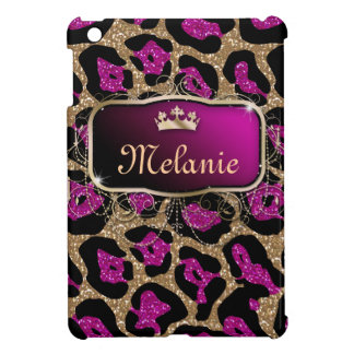 Leopard Bling iPad Case Cover Monogram Name