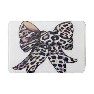 leopard bow bathmat