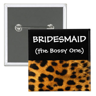 Leopard Bridesmaid Button