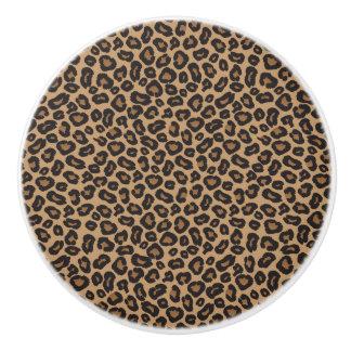 Leopard Brown and Black Pattern Ceramic Knob