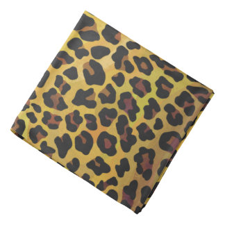 Leopard Brown and Yellow Print Kerchief