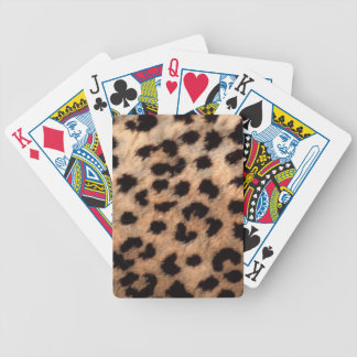 Leopard Cheetah Animal Print Girly Modern Trendy Bicycle Playing Cards