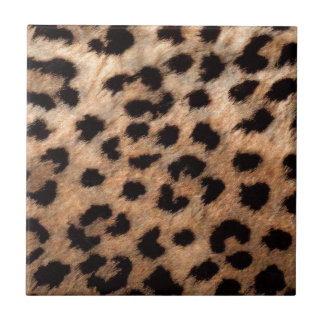 Leopard Cheetah Animal Print Girly Modern Trendy Ceramic Tile