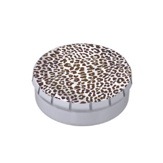 Leopard Chocolate Print Candy Tins