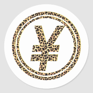 Leopard ¥ classic round sticker