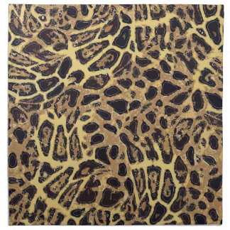 "Leopard Cloth Napkins (set of 4) dinner 20"" x 20"""