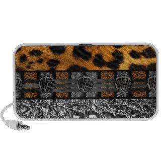 Leopard Crocodile Texture Notebook Speaker