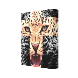 Leopard Cross Hipster Gallery Wrap Canvas