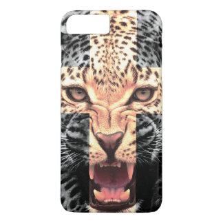 Leopard Cross Hipster iPhone 7 Plus Case