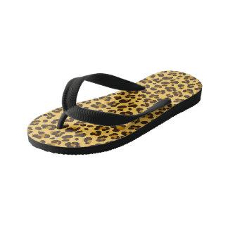 Leopard Custom Flip Flops, Kids Thongs
