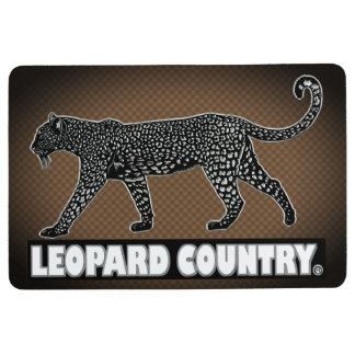 Leopard Decorative Black Brown Floor Mat